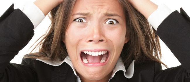Стрессовая ситуация у женщины