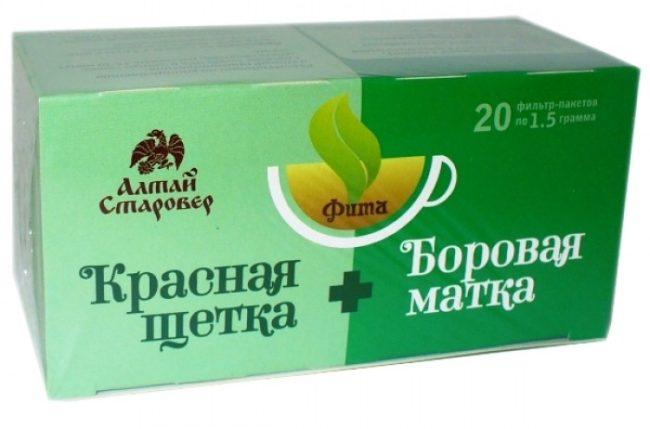 Упаковка чая боровая матка и красная щетка