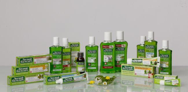 Упаковки продукции Лесной бальзам