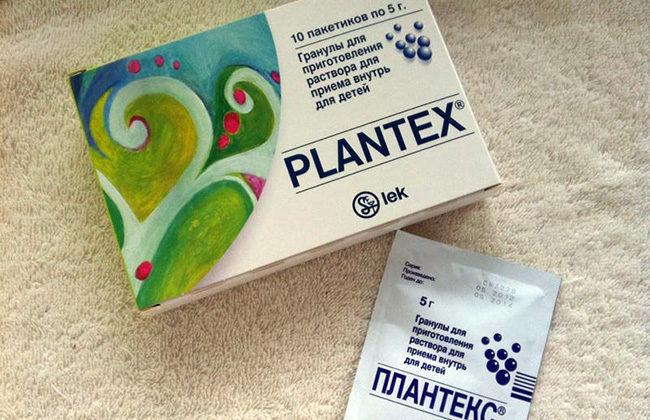 Препарат Плантекс в виде пакетиков с гранулами