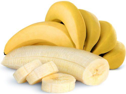 Спелый очищенный банан