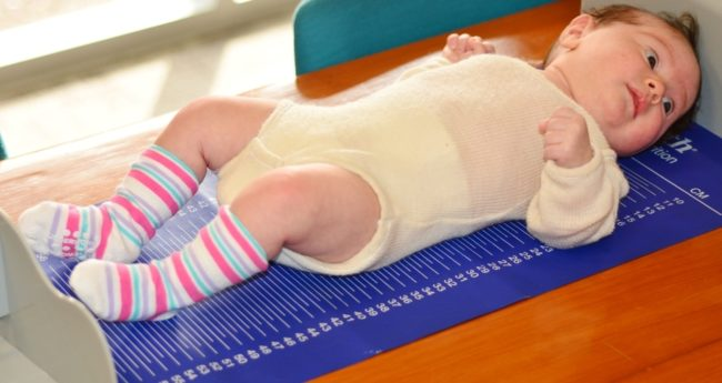 Измерение новорождённого