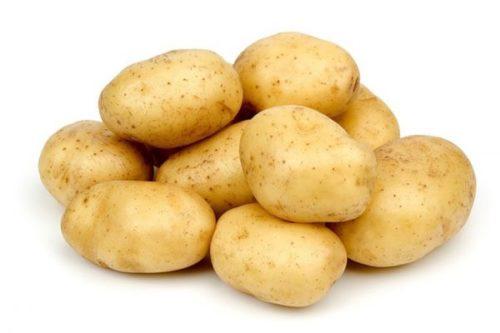 Горка из картошки вблизи