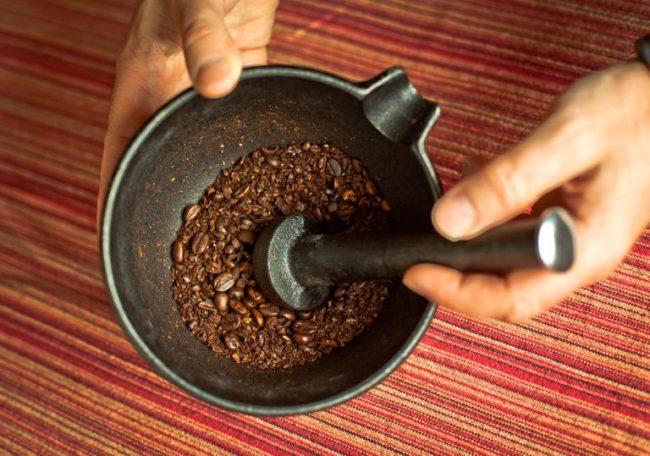 Зёрна кофе крупного помола