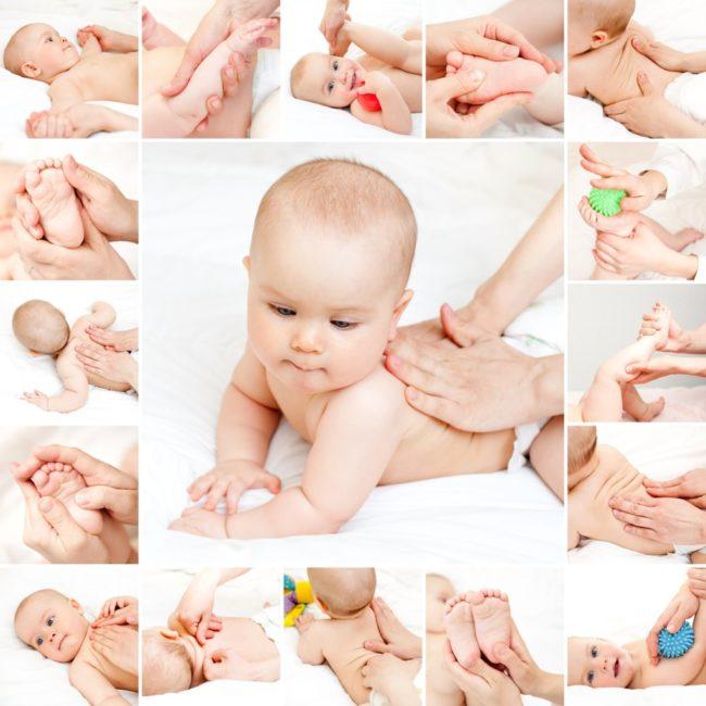Техника массаж новорождённому ребёнку на разные части тела