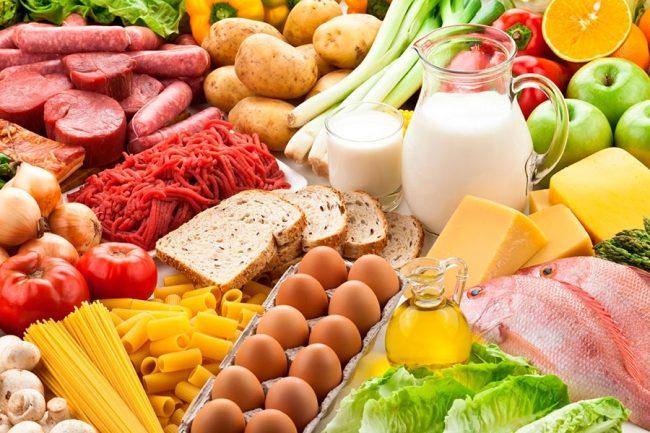 Разнообразные пищевые продукты