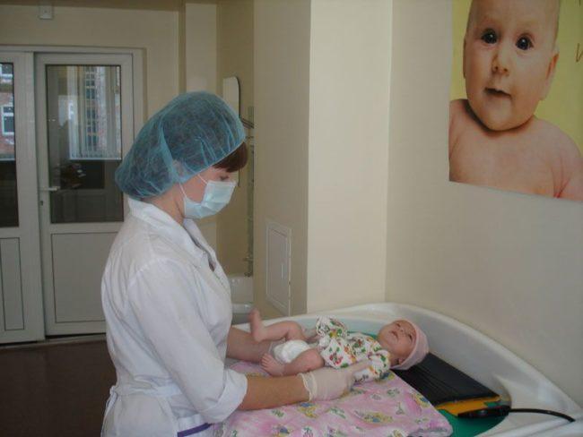 Новорождённый в поликлинике