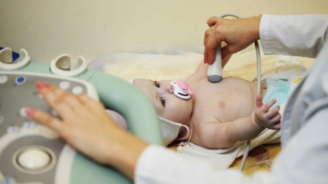 Узи сердца новорождённому
